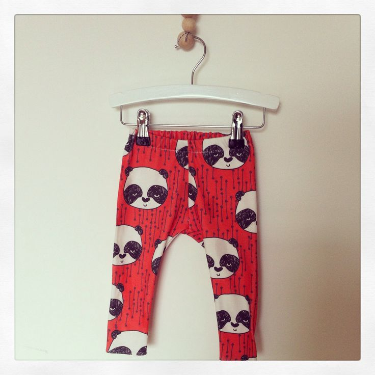 Panda Babylegging with Andrea lauren fabric by birds & bots