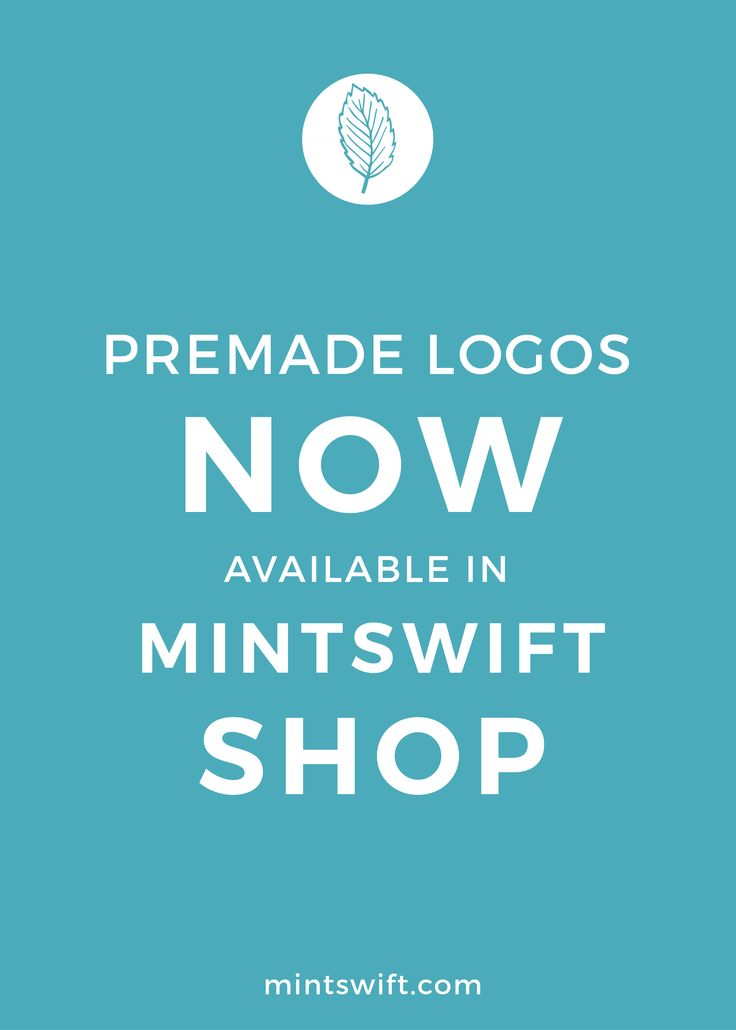 MintSwift Shop is finally open! I'm so excited to share more information about it with you today. Shop with premade logo designs, has been my dream for about a year. I simply love creating a logos and it's my main speciality. I'm so happy to share my expertise with all amazing lady bosses out here!