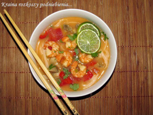 Kraina rozkoszy podniebienia...: Tom Yum Kung, czyli tajska zupa z krewetek