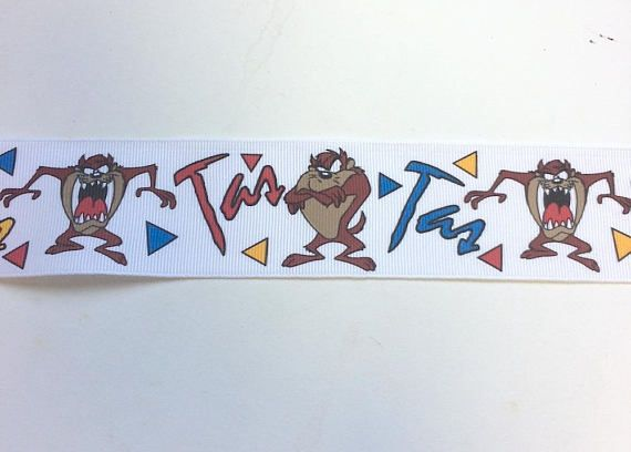 Taz Tasmanian Devil Looney Tunes Grosgrain Ribbon 10 Yards 1