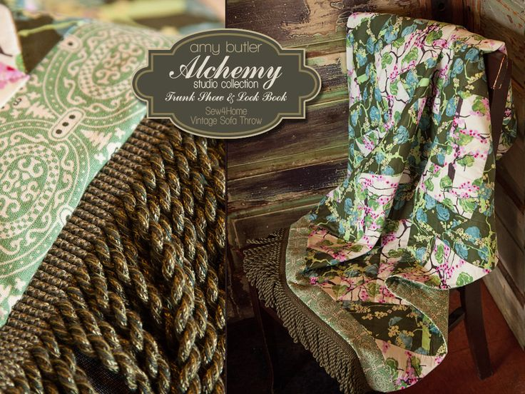 Special Amy Butler Alchemy Trunk Show Project: Vintage Sofa Throw in Voile & Linen   Sew4Home