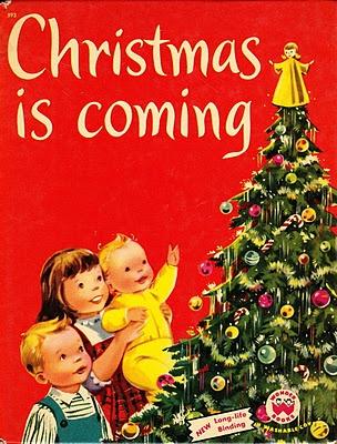 Christmas is Coming - vintage Wonder Book