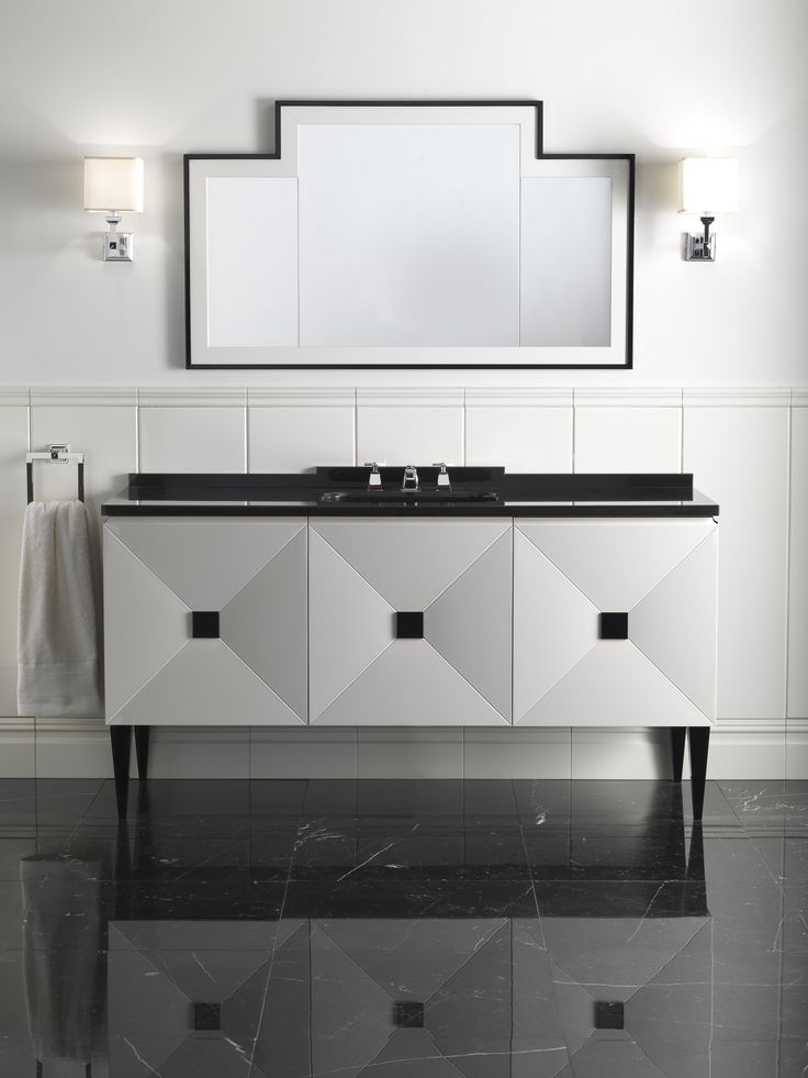 Transitional Jetset Floor Mount Vanity Unit by Devon + Devon