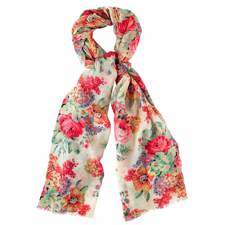 Bloomsbury Bouquet Wool Shawl | Hats, Gloves, and Scarves | CathKidston