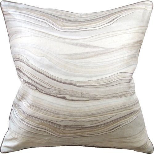 Pillow with agate motif  22X22 Envisioned Champagne with contrast linen backing. watercolour style in pastel Colors makes for a very elegant throw pillow.   http://www.avenuedesigncanada.com  For more gorgeous pillows, stop by The Avenue Design Canada Showroom open to both designers and the public in Montreal Qc.