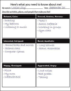 Emotions Worksheet.
