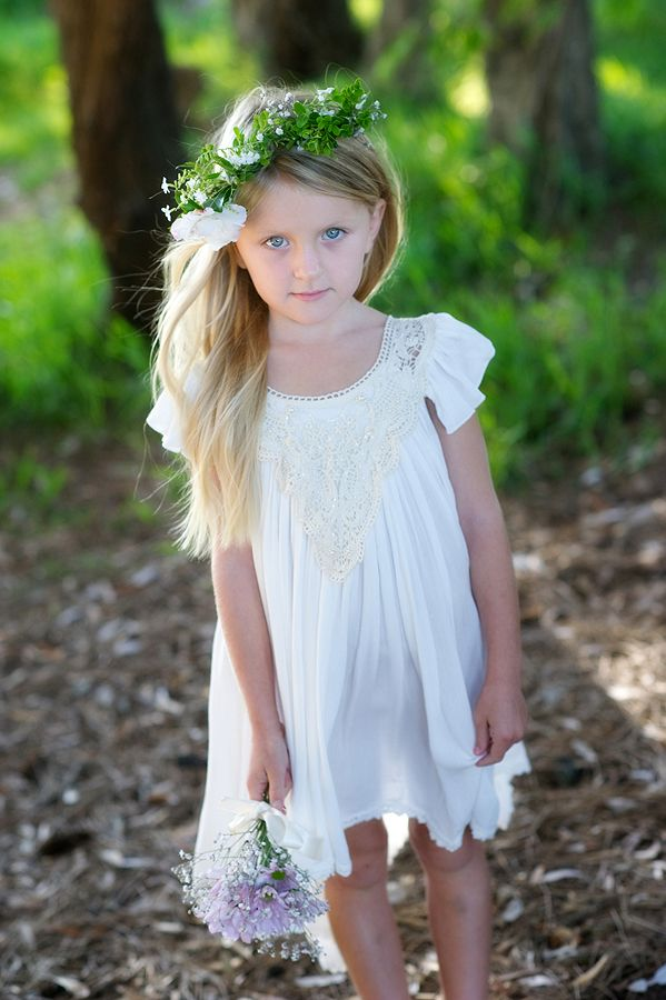 flowergirl dress by Tea Princess http://www.teaprincess.com.au/collections/ivory-wildflower-collection