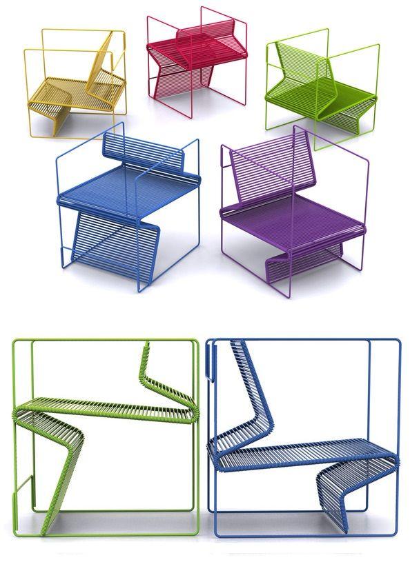 1º lugar: cadeira duo, de camila souza | concurso novo design brasileiro
