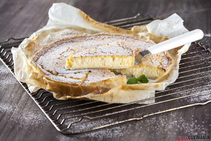 Receita de Tarte de requeijão. Descubra como cozinhar Tarte de requeijão de maneira prática e deliciosa com a Teleculinária!