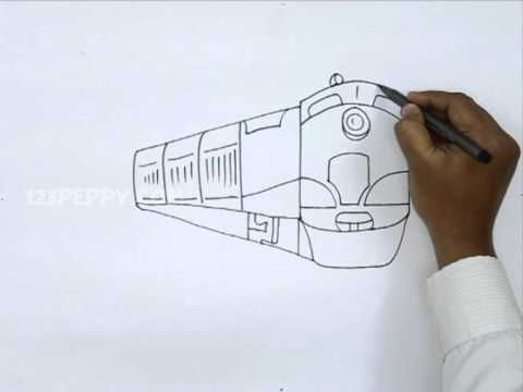 how to draw a diesel train