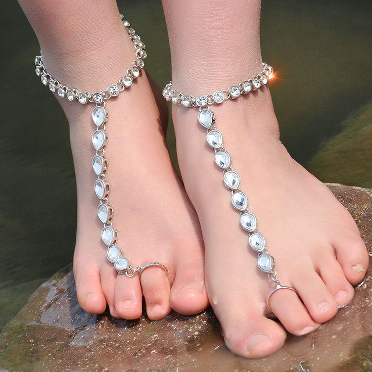 Fate Love Jingle Bells Charm Chain Anklet Bracelet Sexy Foot Barefoot Jewellry Rose Gold Tone yEENa7
