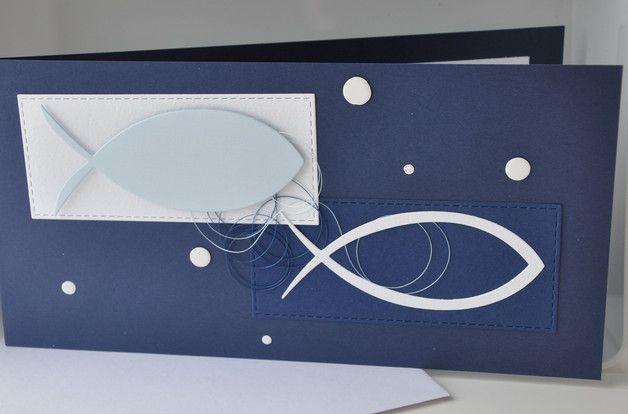 Glückwünsche - Karte zur Kommunion & Konfirmation - ein Designerstück von Papier-und-Passion bei DaWanda