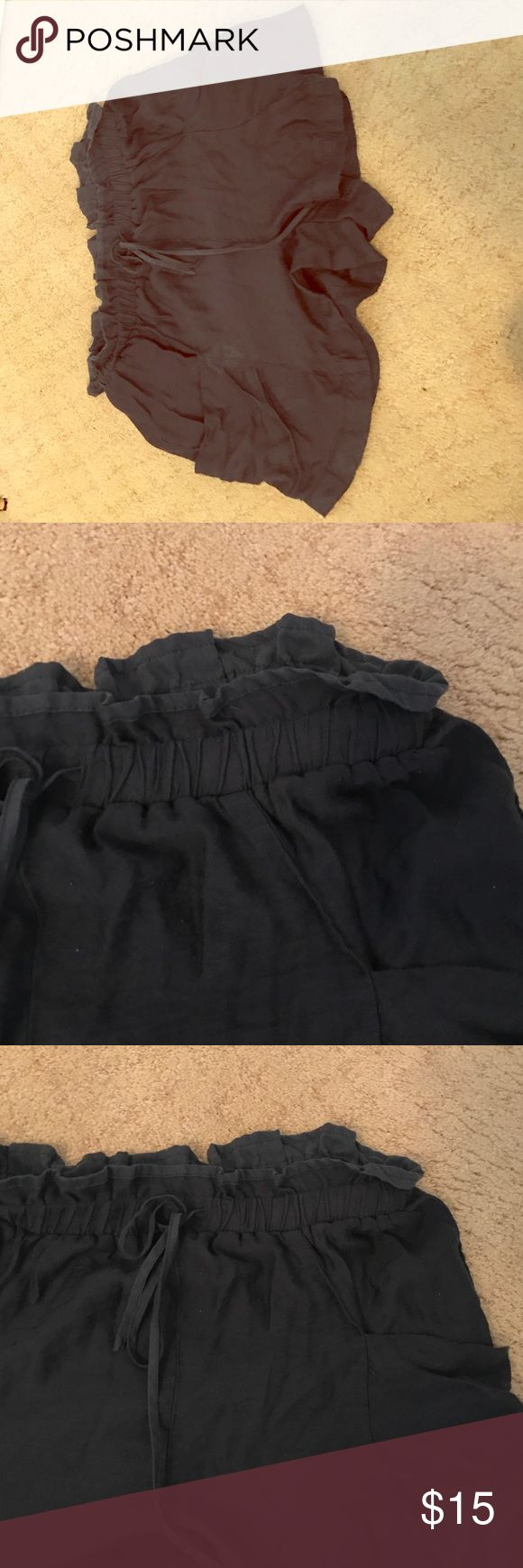 Navy Blue Soft Lounge Shorts Navy blue lounge shorts with draw-string waistline. Big side pockets. In good condition. Can be worn high or low-waisted. Urban Outfitters Shorts