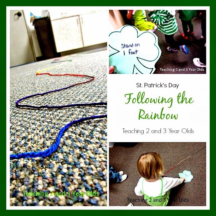 Teaching 2 and 3 Year Olds: Following the Rainbow on St. Patrick's Day. Pinned by Generation iKid