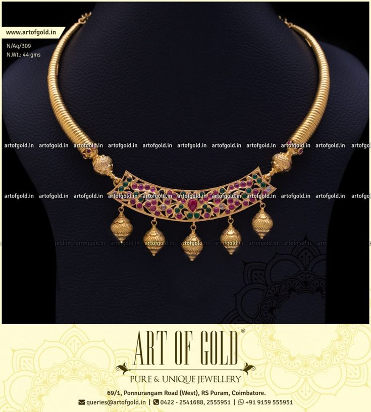 The ever stylish Kanthi Necklace with a kemp stone pendent. Click to Buy!