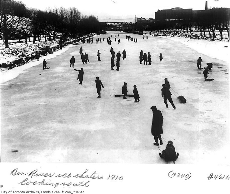 1910 - Skaters on the Don River.