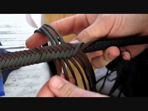 whipmaking : dropping strands 16 to 14 plait - YouTube