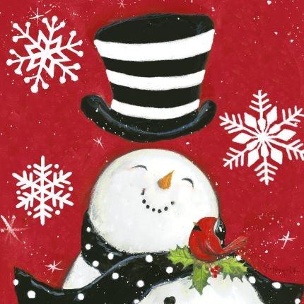 cute snowman and cardinal!