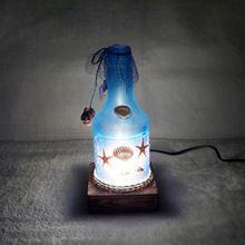 2017 Romantische Marine Stijl Fles Bedlampje Glas Kristal Tafellamp Slaapkamer Fles Licht Verjaardagsfeestje Decoratie Halloween(China (Mainland))