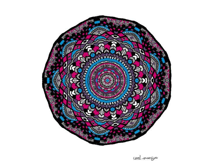 Mandala Pink Blue