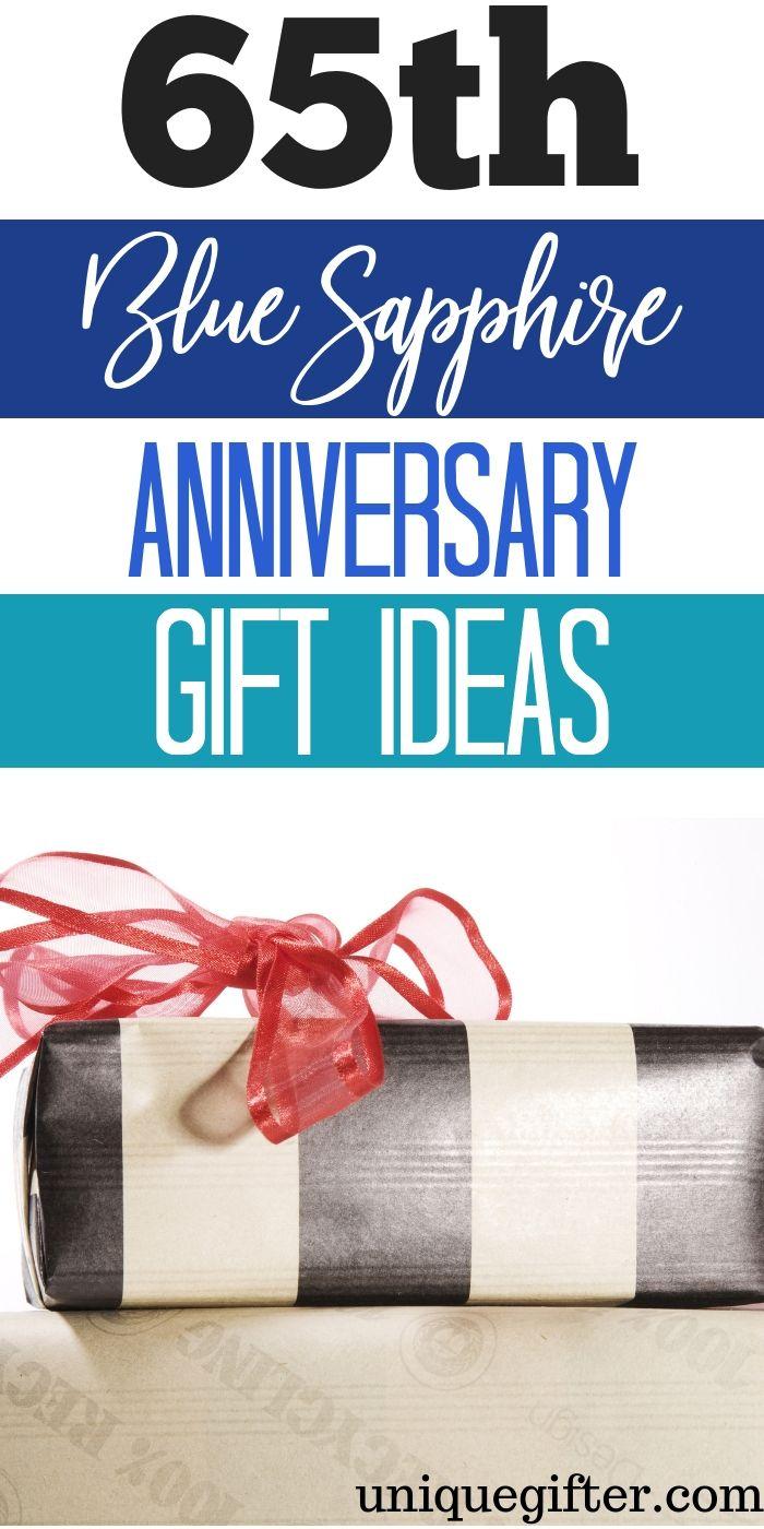 65th Blue Sapphire Anniversary Gift Ideas Unique Gifter 65th Anniversary Gifts Year Anniversary Gifts Sapphire Anniversary