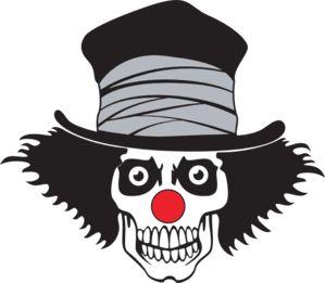 Clown Skull With Hat Clip Art Skull bones Pinterest