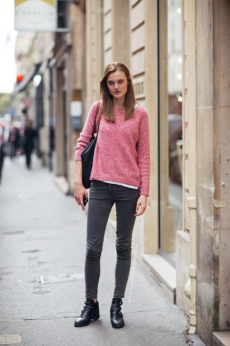 nice knit. #LieveDannau #offduty in Paris.