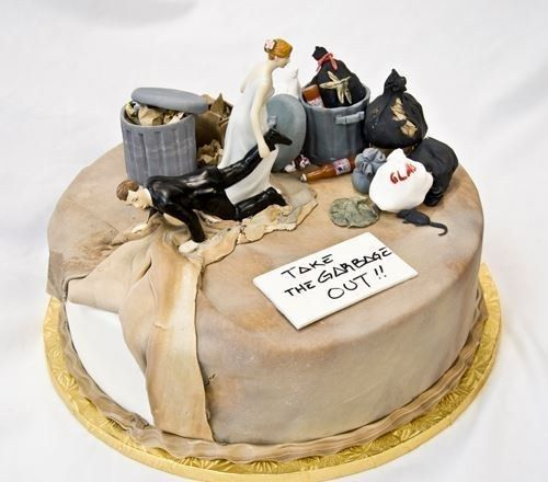 Rats, anyone?   24 Hilarious Divorce Cakes That Are Even Better Than Wedding Cakes