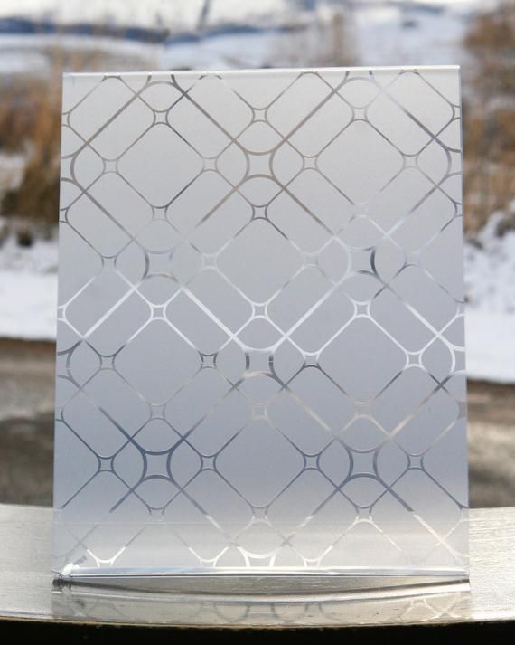 No Peeking Specializes In Decorative Frosted Vinyl Window Patterns