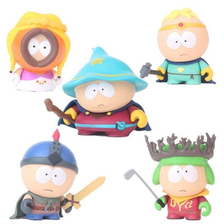 5Pcs Anime South Park Stan Kyle Eric Kenny Leopard Mini Action Figure Model Toy