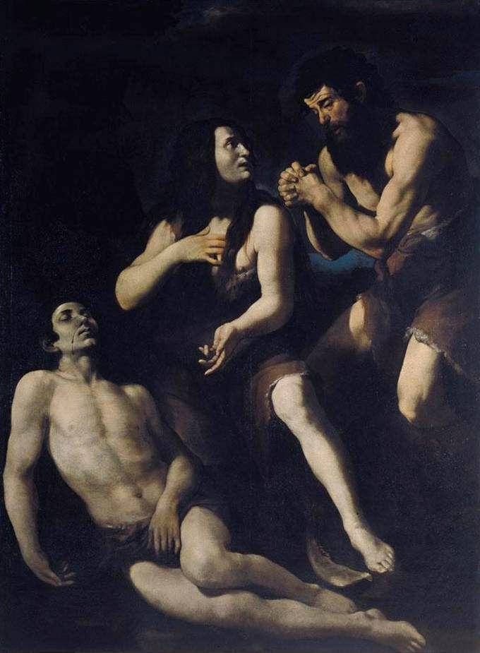 Lamentacions d'Adam i Eva davant el cos d'Abel    Giovanni Battista Caracciolo ( Battistello)  1578-1635
