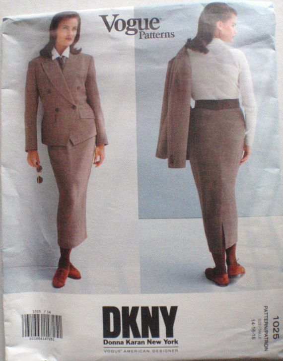 Donna Karan Vogue Designer Pattern  Double by Shelleyville on Etsy