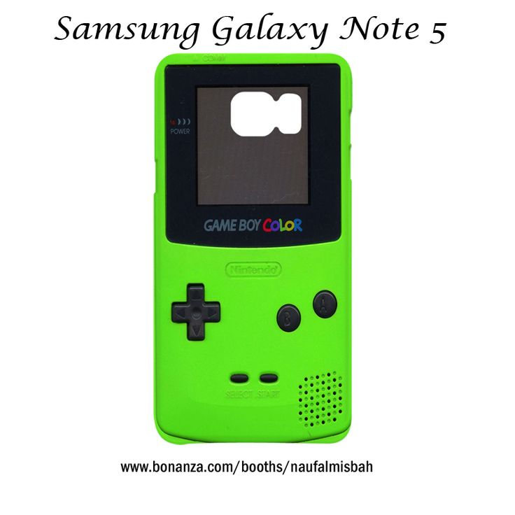 Game Boy Color Green Samsung Galaxy Note 5 Case Cover Wrap Around