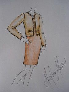 Modelagem do casaqueto estilo chanel do 38 ao 54.