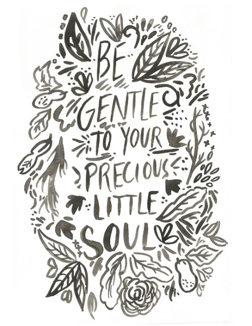 lettering, wreath, quote, ink, little soul, comfort, type, calligraphy, hand, typography