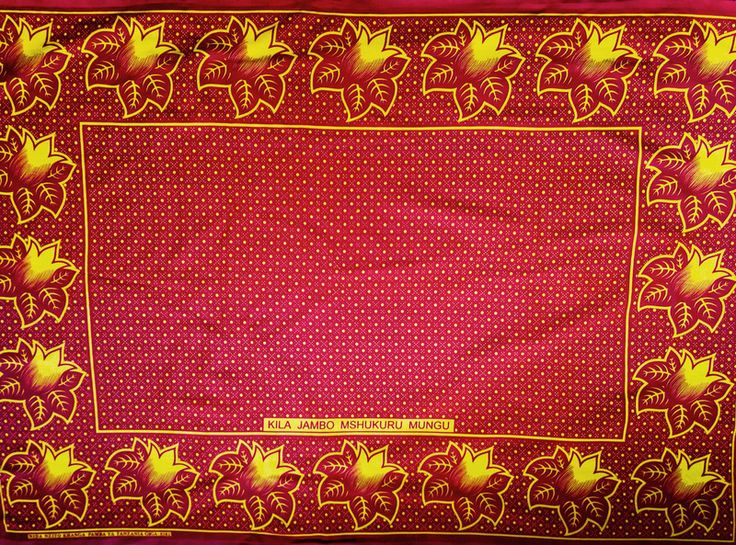 "Stoff afrikanisch - afrikanischer Stoff: Kanga nzito ""thankful""  - ein Designerstück von Madukani bei DaWanda"
