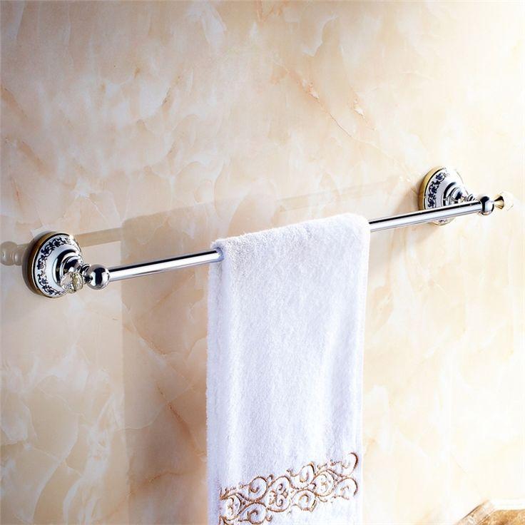 浴室タオルバー タオル掛け タオル収納 壁掛けハンガー バス用品 金色&クロム バスアクセサリー 現代的 LWA099