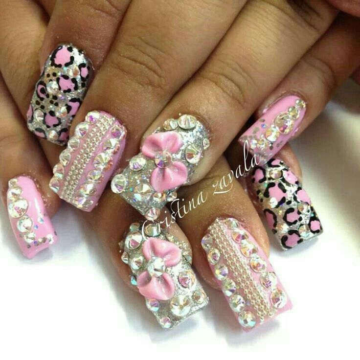139 best jssminnnns images on pinterest 3d nails art acrylic blinged out baby pink silver nailz prinsesfo Gallery