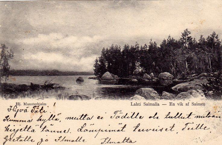 Kuva albumissa HJALMAR MUNSTERHJELM - Google Kuvat.  Lahti Saimaalla.