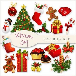 Christas Day freebies digital scrapbooking kit