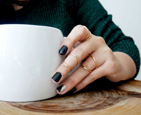 20 minimalist nail art ideas for the lazy cool girl | Beauty | FASHION Magazine |