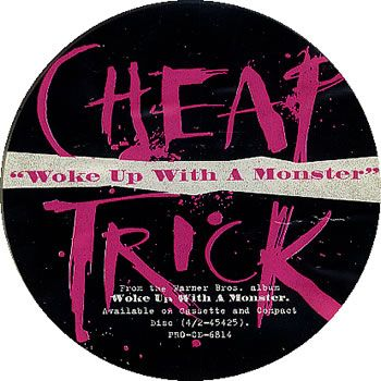 """For Sale - Cheap Trick Woke Up With A Monster USA Promo  CD single (CD5 / 5"""") - See this and 250,000 other rare & vintage vinyl records, singles, LPs & CDs at http://991.com"""