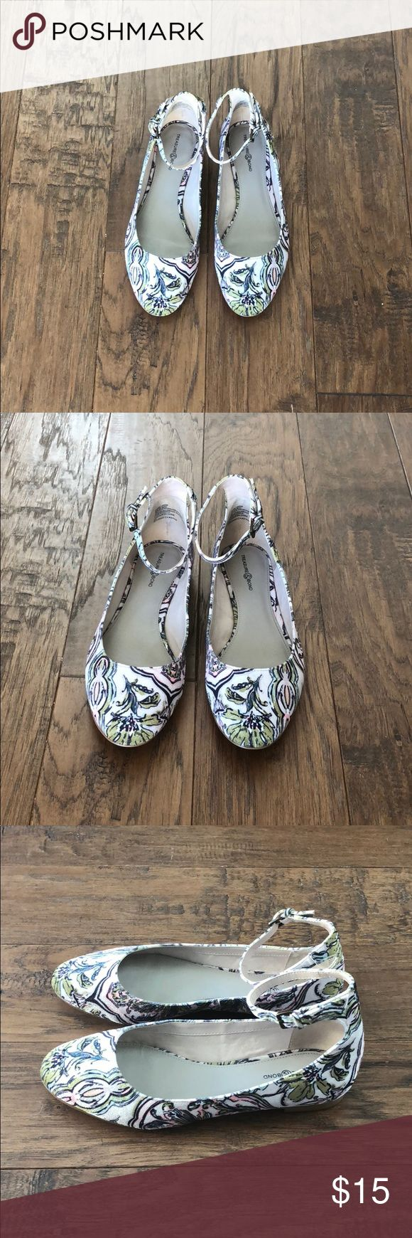 Floral Print Velvet Flats! Purchased from Nordstrom anniversary sale earlier this year and it's just too dang cold to wear them here! In great condition, only worn a couple of times. Velvet texture and super cute ankle strap!! Nordstrom Shoes Flats & Loafers