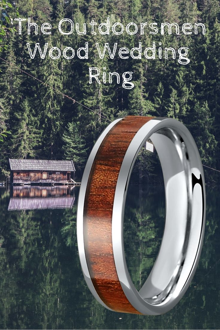 This makes such a unique mens wedding ring. My almost husband is such an outdoorsmen! He would love this wooden wedding ring.