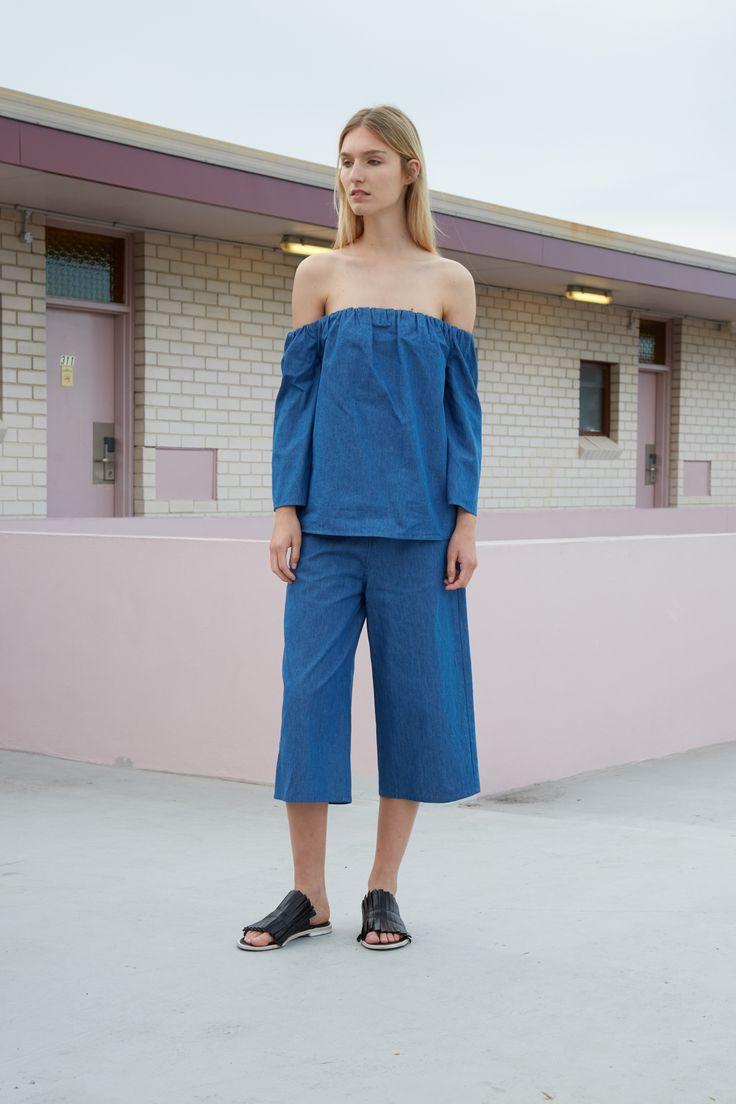 THIRD FORM RESORT 16 COLLECTION   FREE FALL TOP #thirdform #fashion #streetstyle #minimalism #chic #trend #top #denim