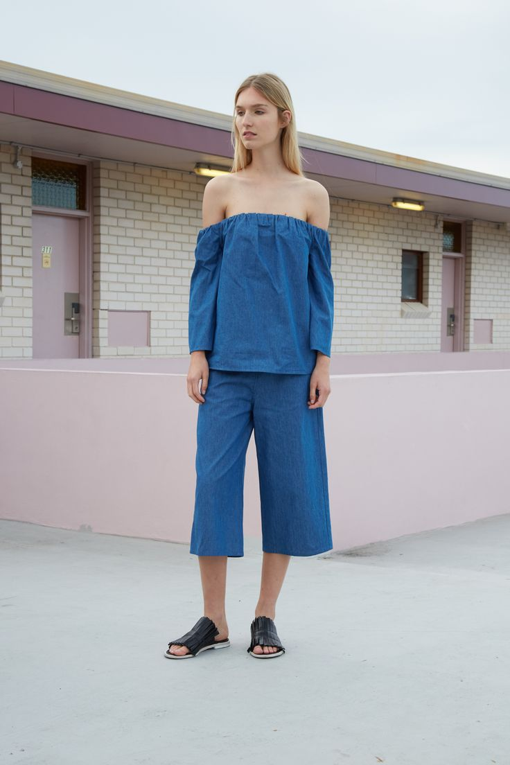 THIRD FORM RESORT 16 COLLECTION | FREE FALL TOP #thirdform #fashion #streetstyle #minimalism #chic #trend #top #denim