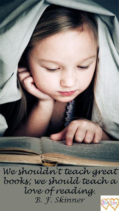Teach the love of reading! Daar draait het toch ook om!