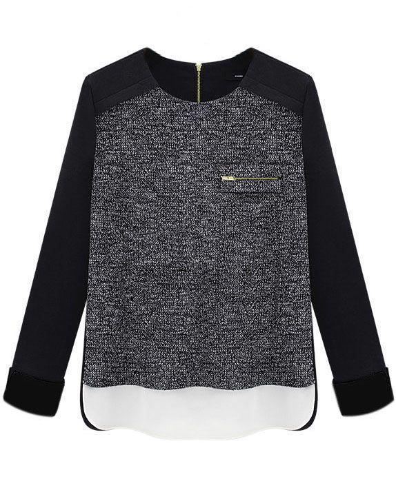 Shop Black Long Sleeve Zipper Split Slim Blouse online. Sheinside offers Black Long Sleeve Zipper Split Slim Blouse & more to fit your fashionable needs. Free Shipping Worldwide!