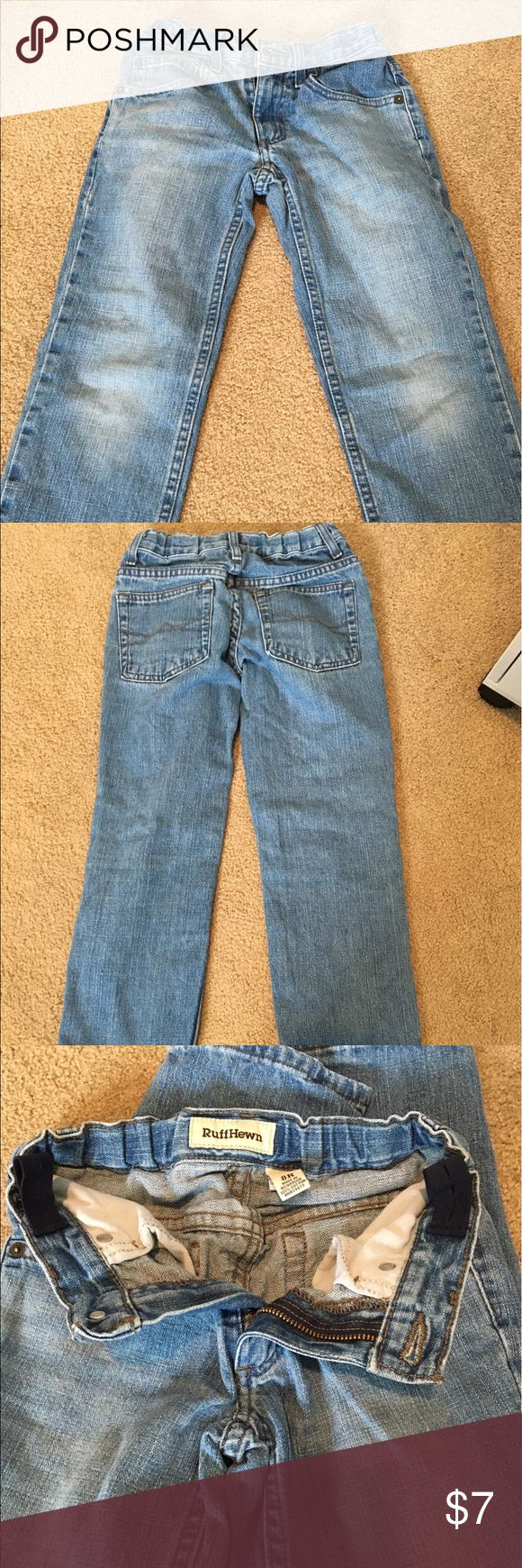 Ruff Hewn Boys Jeans These boys jeans are very lightly used. No stains or rips's. They feature an elastic adjustable waist too. Ruff Hewn Bottoms Jeans