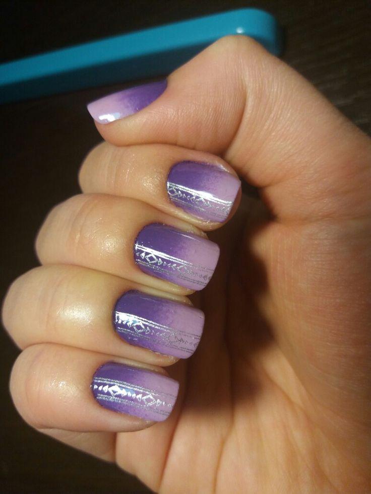 Violet ombre nails